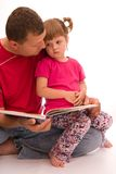 Reading with dad Stock Photo