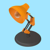 Reading desk lamp isometric vector Royalty Free Stock Images