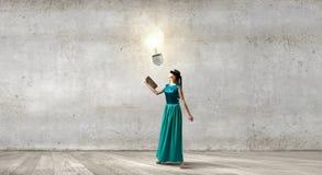 Reading develops imagination Stock Image