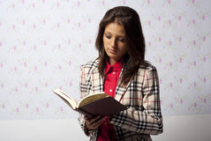 Reading diary Stock Photo