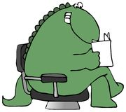 Free Reading Dinosaur Royalty Free Stock Photo - 5002725