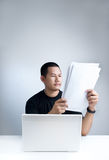 Reading documents Royalty Free Stock Image