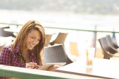 Reading an e-book Stock Photography