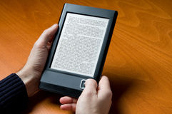 Reading electronic book Stock Image