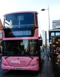 Pink number 23 bus stock images