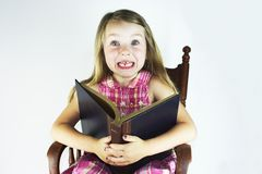 Reading is Exciting Royalty Free Stock Photography