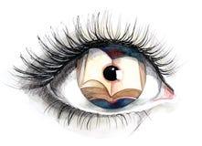 Reading eye (series C) Stock Photos