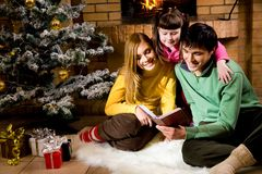 Reading fairy tales Stock Images