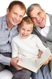 Reading family Royalty Free Stock Photo