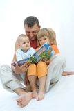 Reading father Royalty Free Stock Photo