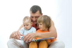 Reading father Stock Photos
