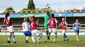 Reading FC Women v Aston Villa Ladies. FA WSL (Women Super League) match Royalty Free Stock Images