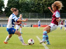 Reading FC Women v Aston Villa Ladies. FA WSL (Women Super League) match Stock Images