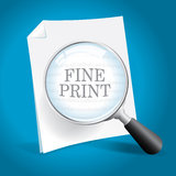 Reading the Fine Print. Of a Legal Agreement royalty free illustration