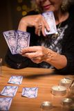Reading future from tarot cards Stock Photography
