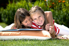 Reading in garden Royalty Free Stock Photo