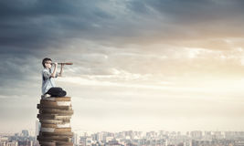 Reading for getting knowledge Royalty Free Stock Image