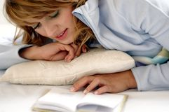 Reading girl. Girl reading book Stock Photo