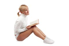 Reading girl royalty free stock images