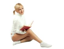 Reading girl stock images