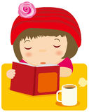Reading girl Royalty Free Stock Photo