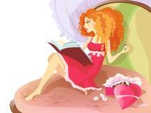 Reading girl Stock Photo