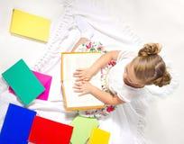 Reading girl Stock Photos