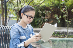 The reading girl Stock Photography