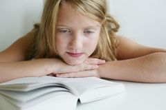 Reading girl Stock Photos