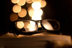 Reading glasses 2. Reading glasses ready for a perusal Stock Photos