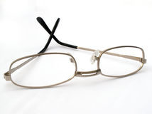 Reading glasses. Metal framed reading glasses royalty free stock photography