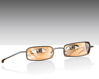 Reading Glasses. Illustration of Reading Glasses with eyes Stock Photography