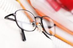 Reading glasses Stock Images