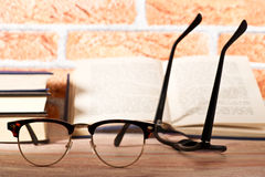 Reading glasses with books Stock Photography