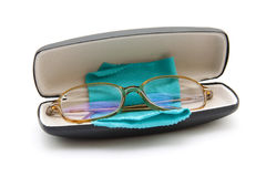 Reading glasses with cloth Stock Image