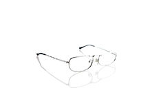 Reading glasses isolated on white Royalty Free Stock Photography