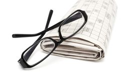 Reading glasses sitting Stock Photography