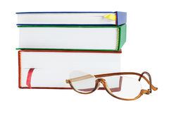 Reading Glasses And Text Books Stock Photo