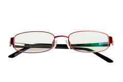 Reading glasses on white Stock Image