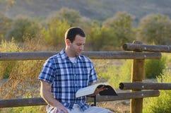 Reading God's Word royalty free stock photo