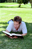 Reading in Grass Royalty Free Stock Photography