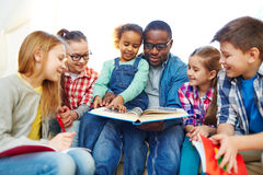 Reading in group Royalty Free Stock Image