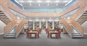 Reading hall interior. Royalty Free Stock Photo