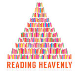 Reading Heavenly Colorful Books Stacks Stock Images
