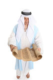 Reading holy torah scroll stock photography