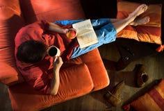 Reading at home Royalty Free Stock Photo