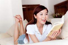 Reading At Home Royalty Free Stock Photo