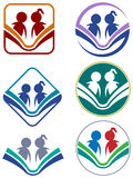 Reading icon set Stock Photo