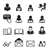 Reading icons Stock Image