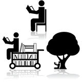 Reading icons Royalty Free Stock Images